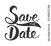 save the date invite card... | Shutterstock .eps vector #414842146
