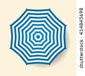 umbrella top view. vector beach ... | Shutterstock .eps vector #414845698