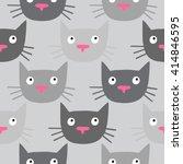 cute cat pattern  made in... | Shutterstock . vector #414846595