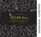 hand drawn vector typographic... | Shutterstock .eps vector #414859495