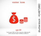 money bag icon | Shutterstock .eps vector #414871882