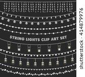 chalkboard string lights set  ... | Shutterstock .eps vector #414879976
