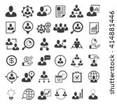 human resource icons set ... | Shutterstock .eps vector #414881446
