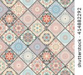luxury oriental tile seamless... | Shutterstock . vector #414882292