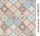 luxury oriental tile seamless... | Shutterstock . vector #414882292