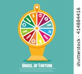 wheel of fortune. flat icon | Shutterstock .eps vector #414884416