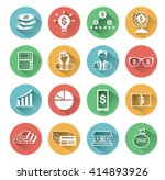 modern flat business icons set... | Shutterstock .eps vector #414893926