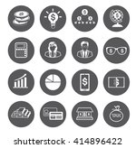 modern flat business icons set  | Shutterstock .eps vector #414896422