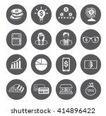 modern flat business icons set  | Shutterstock .eps vector #414896422