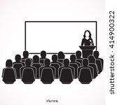 businessman woman giving a... | Shutterstock .eps vector #414900322