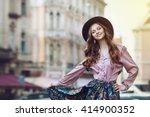 outdoor portrait of young... | Shutterstock . vector #414900352