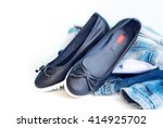 loafers sleep on female leather ... | Shutterstock . vector #414925702