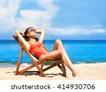 beautiful  seductive girl in... | Shutterstock . vector #414930706