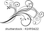 decorative branch | Shutterstock .eps vector #41493622