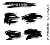 vector set of grunge brush... | Shutterstock .eps vector #414940276