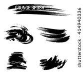 vector set of grunge brush... | Shutterstock .eps vector #414940336
