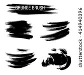 vector set of grunge brush... | Shutterstock .eps vector #414940396