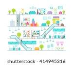 shopping mall vector... | Shutterstock .eps vector #414945316