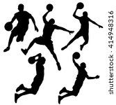 set of silhouettes of dynamic... | Shutterstock .eps vector #414948316