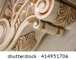carving element. furniture in... | Shutterstock . vector #414951706