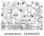 vector illustration zen tangle... | Shutterstock .eps vector #414960352