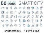 set vector line icons in flat...   Shutterstock .eps vector #414961465
