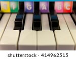 children piano keys with... | Shutterstock . vector #414962515