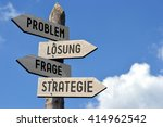 problem  losung  frage ... | Shutterstock . vector #414962542
