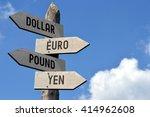 dollar  euro  pound  yen... | Shutterstock . vector #414962608