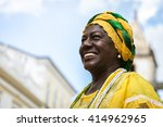 brazilian woman of african... | Shutterstock . vector #414962965