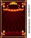 design of poster for cinema... | Shutterstock .eps vector #41496517