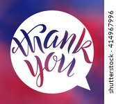 thank you. lettering on blurred ...   Shutterstock .eps vector #414967996