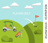 elements for a game of golf.... | Shutterstock .eps vector #414969106