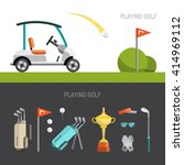 set of elements for the game of ... | Shutterstock .eps vector #414969112
