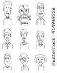 sketch people icons. men hand...   Shutterstock .eps vector #414969226