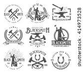 blacksmith graphic vintage... | Shutterstock .eps vector #414973528