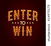 enter to win vector sign  win... | Shutterstock .eps vector #414975175