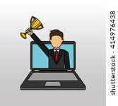successful businessman  design  | Shutterstock .eps vector #414976438