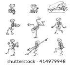 halloween skeletons vector pack | Shutterstock .eps vector #414979948