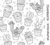 cactus and succulent contour... | Shutterstock .eps vector #414984952