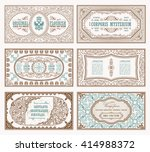 vintage set retro cards.... | Shutterstock .eps vector #414988372