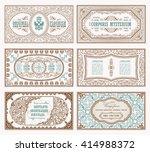 vintage set retro cards.... | Shutterstock .eps vector #414988372