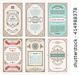 vintage set retro cards.... | Shutterstock .eps vector #414988378
