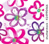 Abstract Floral Pattern For...