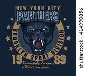 panther sport t shirt graphics  ... | Shutterstock .eps vector #414990856