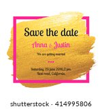 vector gold brush stroke over... | Shutterstock .eps vector #414995806