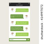 vector phone chat interface.... | Shutterstock .eps vector #414997072