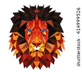 lion of the triangles.... | Shutterstock .eps vector #414999526