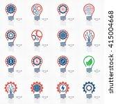 light bulb idea icons set....   Shutterstock .eps vector #415004668