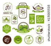 green and ceylon tea labels ... | Shutterstock .eps vector #415005535